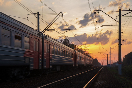 Train and sunset 免版税图像 - 101501478