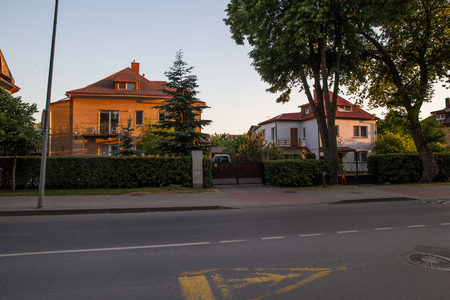 Typical cottages in Palanga