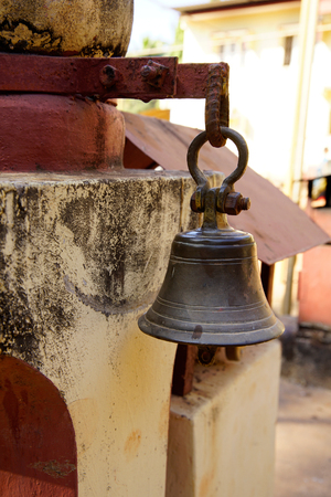 Bell in Temple on the hill .Gokarna. India.
