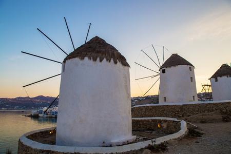 Wonderful  greek  island   Mykonos - famous   mills  of Mykonos