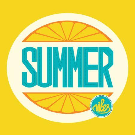 Summer vibes vector lettering Иллюстрация