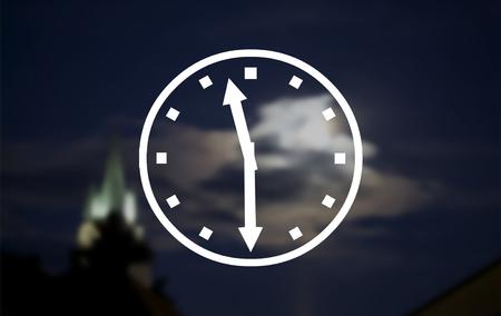 eleven: Abstract light bokeh clocks half past eleven
