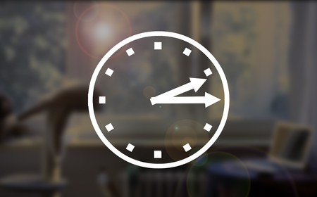 too fast: Abstract light bokeh clocks quarter past two