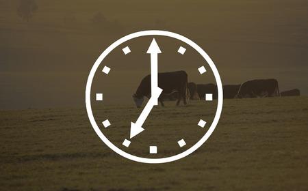 seven o'clock: Abstract light bokeh clocks seven o clock