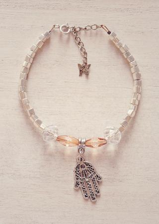 soft sell: Bracelet with Fatimas hand pendant