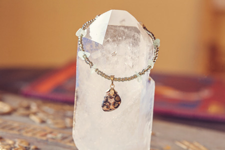 soft sell: Yoga bracelet with minerals Stock Photo