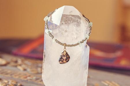 yogini: Yoga bracelet with minerals Stock Photo