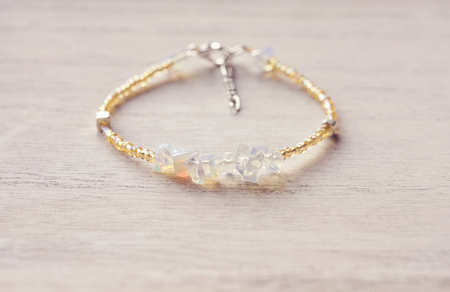 soft sell: Bracelet with natural gems
