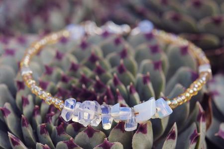 yogini: Bracelet with natural gem
