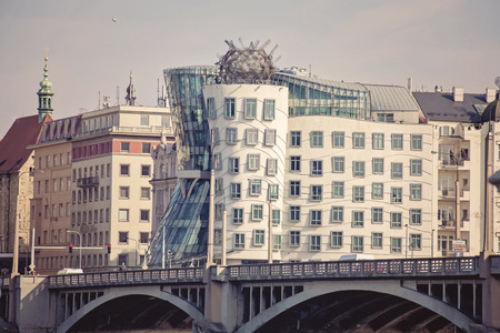 dancing house: Prague, view on Dancing house