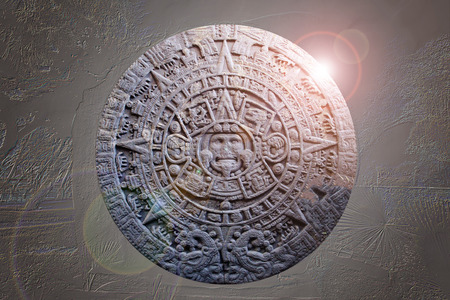 mayan calendar: Ancient Mayan Calendar artistically modified