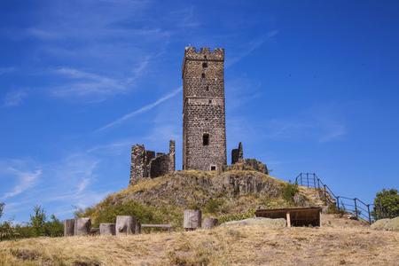 Hazmburk castle in Czech Central Mountains 版權商用圖片