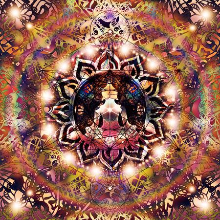 Abstract colorful mandala Imagens