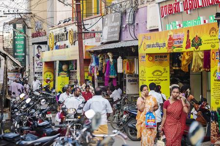 Udaipur, Rajasthan, India, January 31, 2018: Public city market