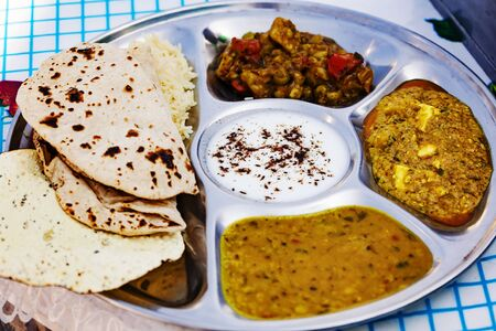 Traditional Indian Tali plate Stock fotó - 128569151