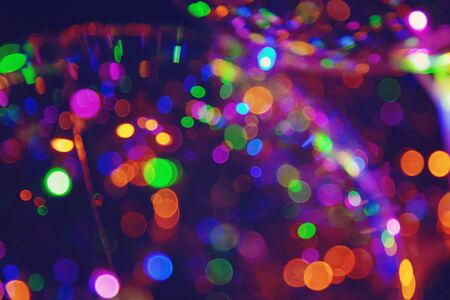 Colorful light bokeh abstract background