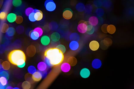 Colorful light bokeh abstract background Stock fotó - 132542496