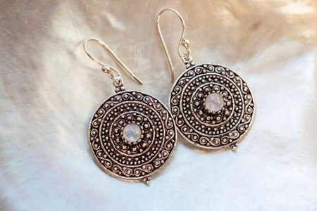 Lovely female Metal earrings in the shape of lotus