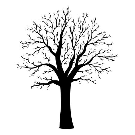 Vector tree silhouette Stock Illustratie