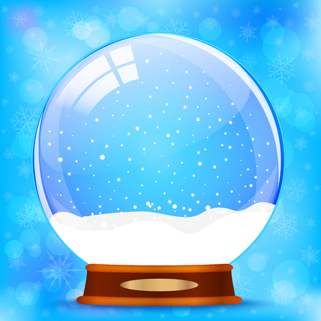 the snow: snow globe vector