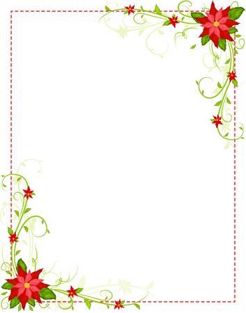 poinsettia frame vector Ilustracja