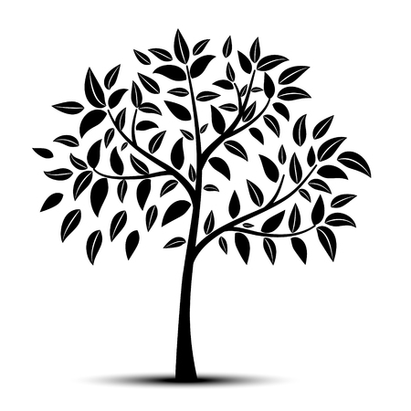 tree with leaves vector 向量圖像