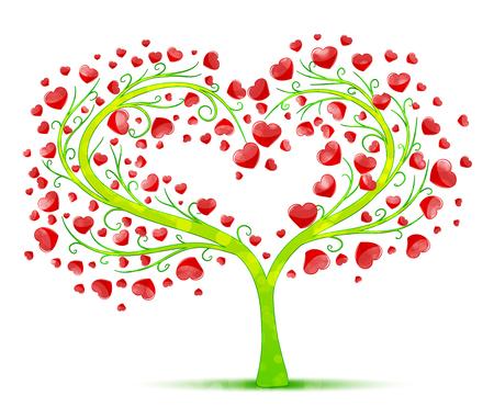 hojas de arbol: el amor vector