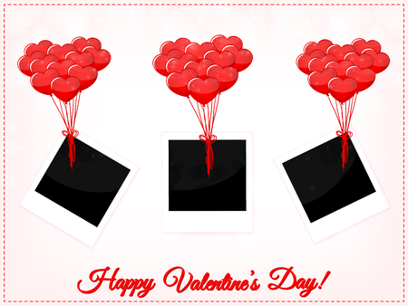 Valentines Day Photo Frames With Balloons Royalty Free Cliparts ...