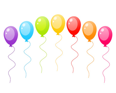 ballons: set of colorful ballons