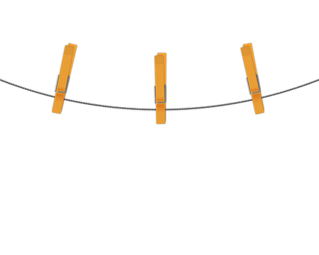 clothespins: clothespins on rope background Illustration