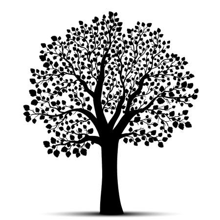 Árbol de la silueta del vector