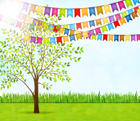 Garden party vector background