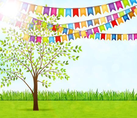 Garden party vector background