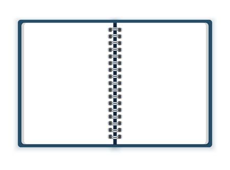 spiral notebook: Open spiral notebook vector