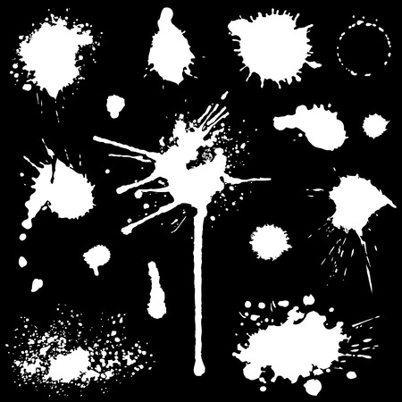 blots: Vector set of blots and stains