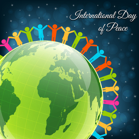 Day of peace vector background