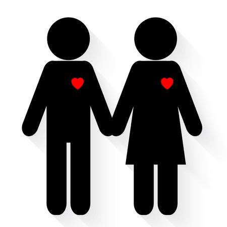 female symbol: Couple in love icon Illustration