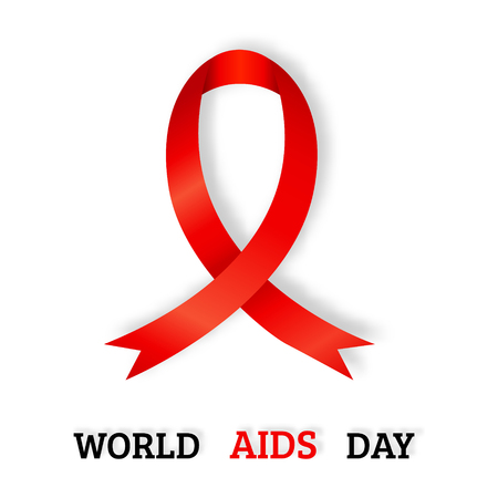 aids awareness ribbon: World AIDS day concept vector