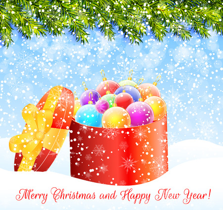 christmas greeting: Christmas greeting card vector Illustration