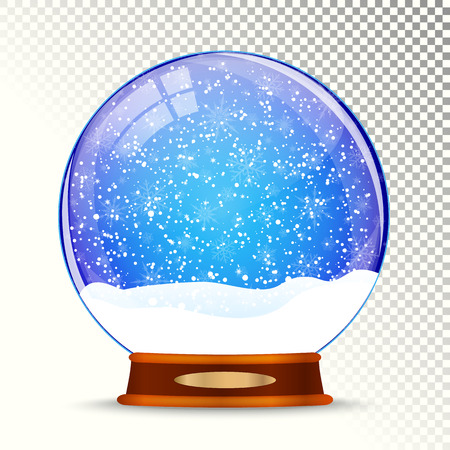 glass sphere: Snow globe vector