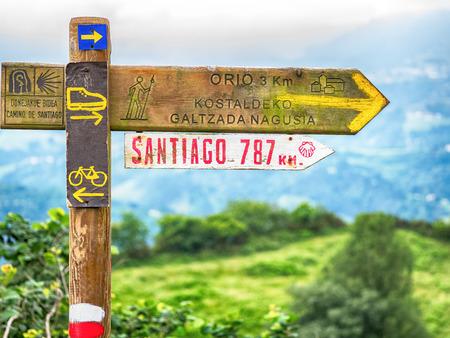 Segni sul Camino de Santiago Archivio Fotografico - 85483001