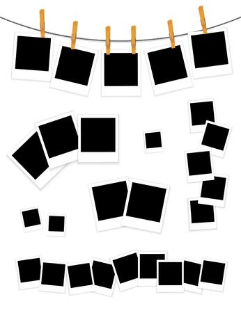 Photo frames set on white background vector Ilustrace
