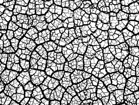 Gebarsten aarde bodem textuur vector background Vector Illustratie