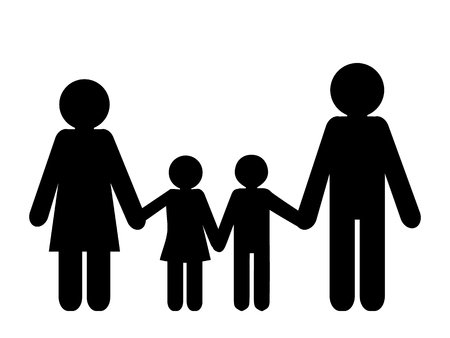 Family icon isolated on white background vector