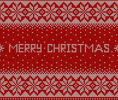 Red and white christmas seamless pattern background vector Иллюстрация