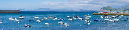 Harbour of  Castro Urdiales, Cantabria, Spain. Stock Photo