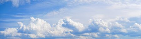 Nature background with blue sky and white clouds Stock fotó