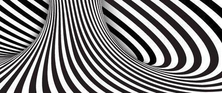 Abstract black and white wavy stripes background. Vector illustration Vektoros illusztráció