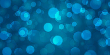 Abstract blue background with bokeh. Vector illustration