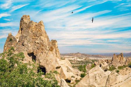 Volcanic cave city in Goreme national park. Capapdocia, Turkey Banco de Imagens